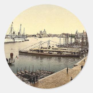 The Hohenzollern in Venice Harbor, Venice, Italy v Classic Round Sticker