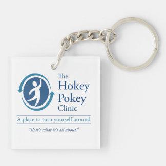 The Hokey Pokey Clinic Double-Sided Square Acrylic Keychain