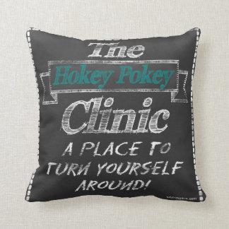 The Hokey Pokey Clinic Throw Pillows