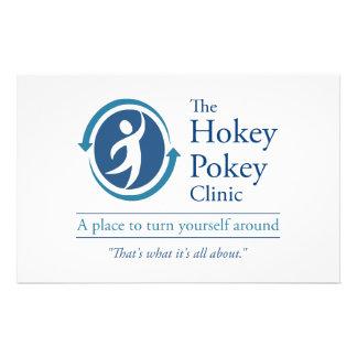 The Hokey Pokey Clinic Stationery Design