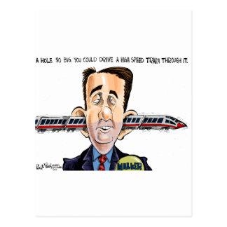 The Hole in Walker's Head Postcard