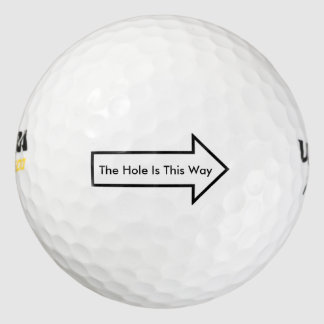 The Hole Is This Way golf ball Pack Of Golf Balls