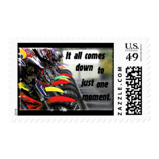The Hole Shot Postage Stamp