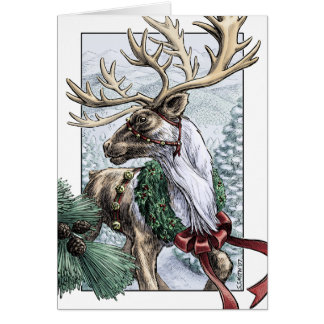 """""""The Holiday Courier"""" card with your own message"""