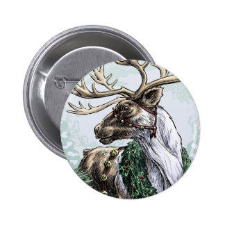 """The Holiday Courier"" Christmas button 2 Inch Round Button"