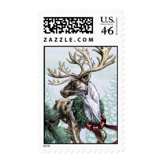 The Holiday Courier medium size postage