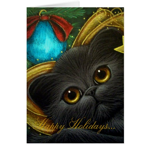 The Holiday Fairy Cat Card