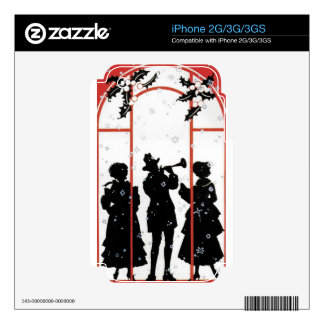 The holiday musicians skins for the iPhone 3GS