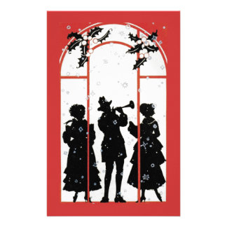 The holiday  musicians stationery