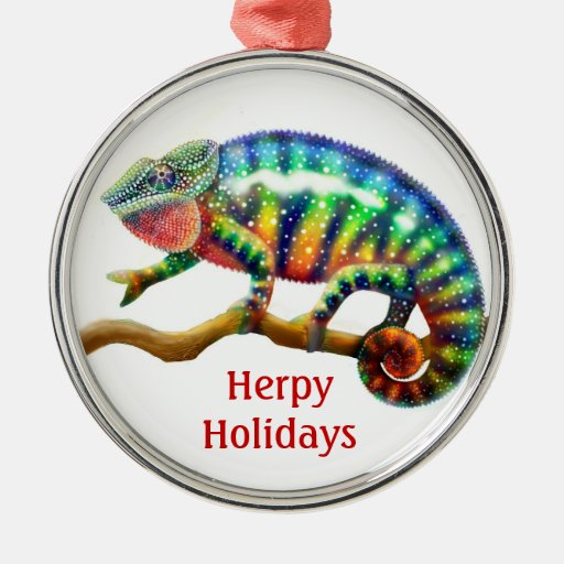 The Holiday Panther Chameleon Customizable Ornamen Christmas Tree Ornaments