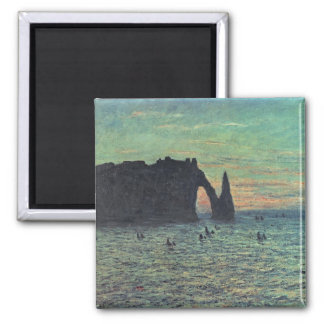 The Hollow Needle at Etretat, 1883 2 Inch Square Magnet