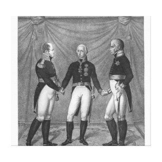 The Holly Alliance, 1815 Canvas Print