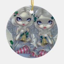 artsprojekt, art, fantasy, holly, ivy, holly and the ivy, angel, fairy, snow angel, snow angels, snow fairy, gothic angel, christmas angel, christmas fairy, christmas, snow, snowy, snowflake, snowflakes, winter, winter fairy, bell, bells, xmas, holiday, eye, eyes, big eye, big eyed, jasmine, becket-griffith, becket, griffith, jasmine becket-griffith, jasmin, strangeling, artist, goth, gothic, Ornamento com design gráfico personalizado