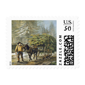The Holly Cart Christmas Card Postage