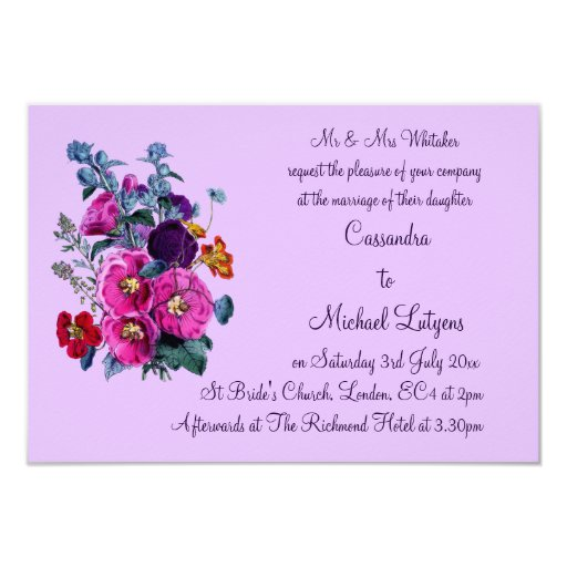 The Hollyhocks Collection Wedding Invite Announcements