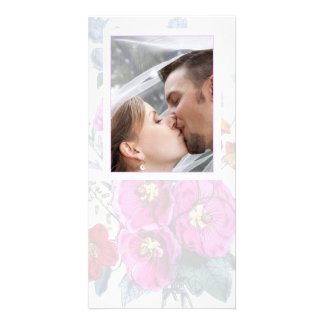 The Hollyhocks Collection Wedding Photo Card