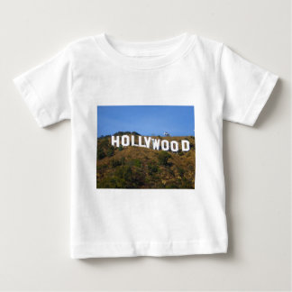 The Hollywood Sign on Hollywood Hills California Baby T-Shirt