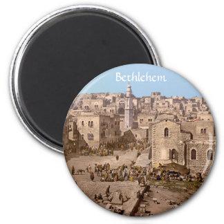 The Holy City Of Bethlehem 2 Inch Round Magnet