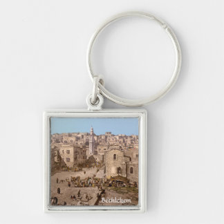 The Holy City Of Bethlehem Keychain