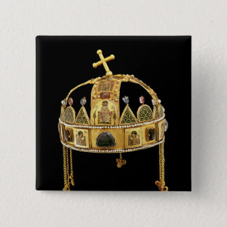The Holy Crown of Hungary, 11th-12th century Pinback Button