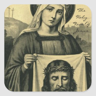 The Holy Face Of Jesus Square Sticker