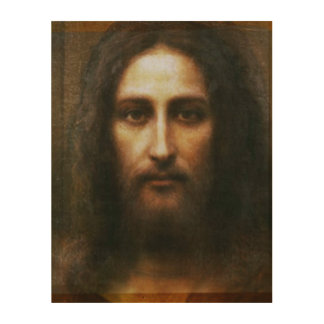 THE HOLY FACE OF JESUS WOOD PRINT