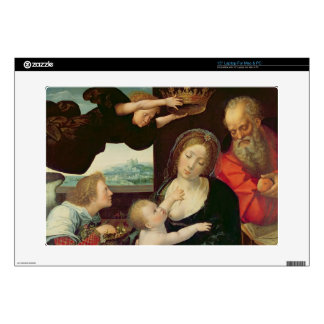 The Holy Family, 1522 (oil on panel) Decal For Laptop