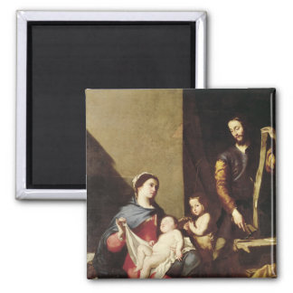 The Holy Family, 1639 2 Inch Square Magnet