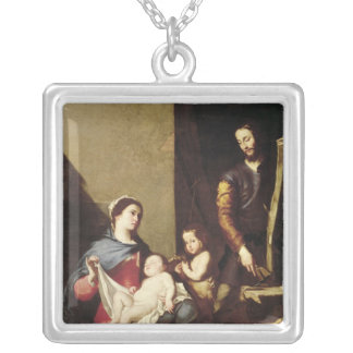 The Holy Family, 1639 Silver Plated Necklace