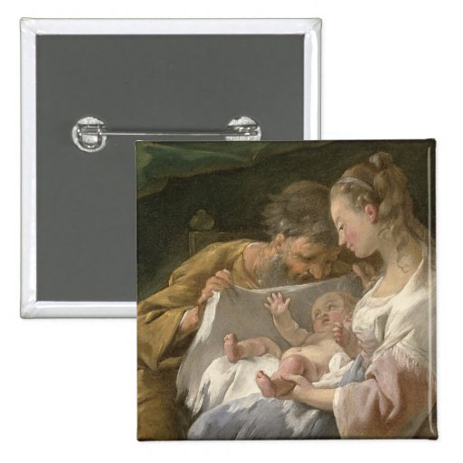 The Holy Family, 18th century Button