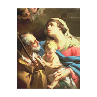 The Holy Family, 18th century Stretched Canvas Print