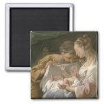 The Holy Family, 18th century Fridge Magnets
