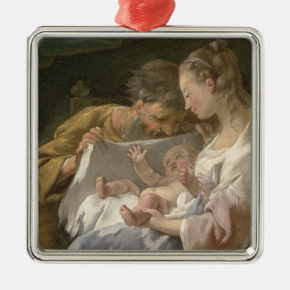 The Holy Family, 18th century Metal Ornament