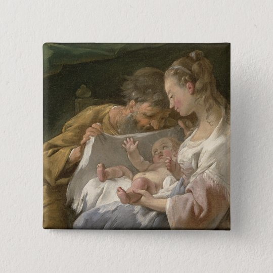 The Holy Family, 18th century Pinback Button