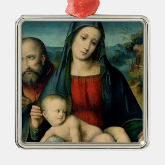 The Holy Family 2 Metal Ornament