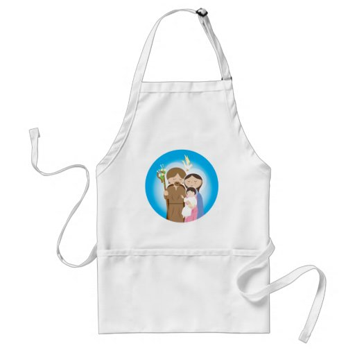 The Holy Family Adult Apron