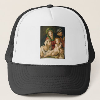 The Holy Family - Agnolo Bronzino Trucker Hat