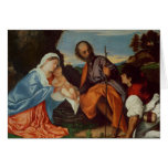 The Holy Family and a Shepherd, c.1510 Card