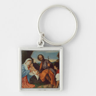 The Holy Family and a Shepherd, c.1510 Keychain