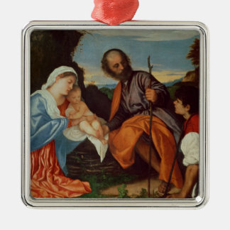 The Holy Family and a Shepherd, c.1510 Metal Ornament