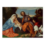 The Holy Family and a Shepherd, c.1510 Postcard