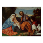 The Holy Family and a Shepherd, c.1510 Poster
