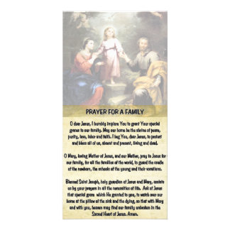 The Holy Family and the Prayer for a Family Card