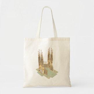 The Holy Family Antonio Gaudi. Barcelona Spain Budget Tote Bag