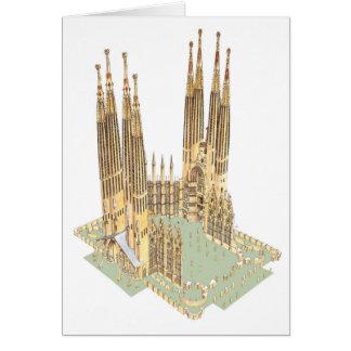 The Holy Family Antonio Gaudi. Barcelona Spain Card