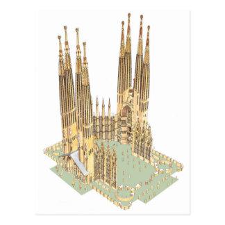 The Holy Family Antonio Gaudi. Barcelona Spain Postcard