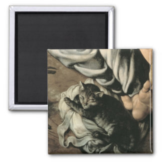 The Holy Family around a Fire, c.1532-33 2 Inch Square Magnet