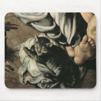 The Holy Family around a Fire, c.1532-33 Mouse Pad