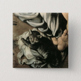 The Holy Family around a Fire, c.1532-33 Pinback Button