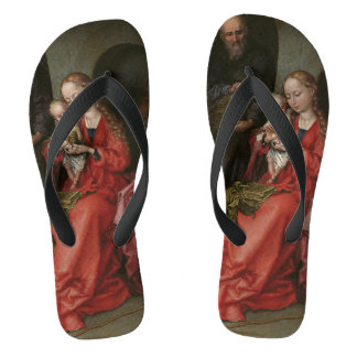 """The Holy Family"" art sandals"